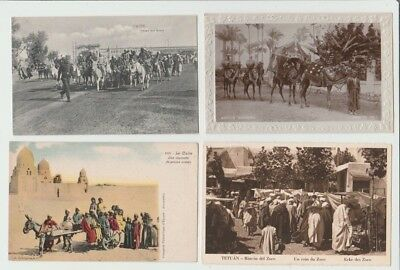 10 EARLY EGYPT TOPOGRAPHICAL POSTCARDS: ETHNIC SCENES incl. wedding