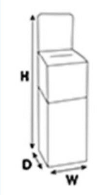 Floor Standing Corrugated Ballot Box w/ Detachable Header