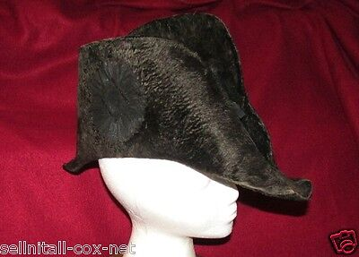 RARE 1800's   19th C. Antique Fore & Aft Cocked NAVY Hat