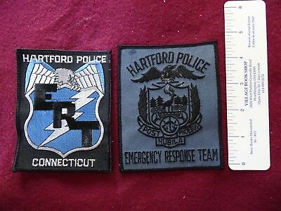 2 Different Hartford, Connecticut ERT  Patches