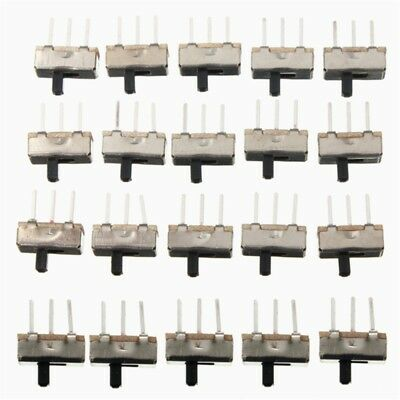100pcs SS12D00G3 2 Position SPDT 1P2T 3 Pin PCB Panel Mini Vertical Slide Switch