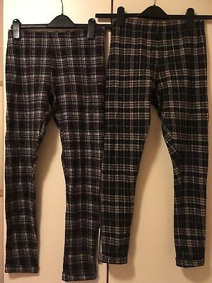 New Look Girls Winter Leggings Vgc Used Clean X2 Pairs Assorted  Age 12/13 Yrs