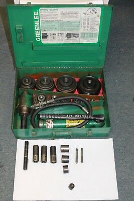 "GREENLEE 7310 HYDRAULIC KNOCKOUT PUNCH AND DIE SET 1/2 to 4"" CONDUIT"