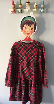 Girls Vintage Traditional Tartan Dress Age 6 Immaculate Condition Age 7