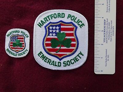 2  Hartford, Connecticut Emerald Society Patches