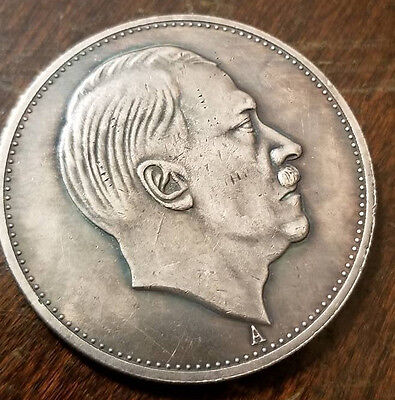 Adolf Hitler Third Reich Nazi 5RM 1942 coin Exunomia WW2 WWII German Germany