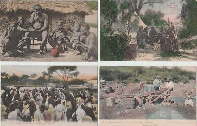 8 Early Ethnic Postcards: South Africa