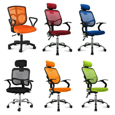 SS Adjustable Fabric Mesh Seat Backrest Executive Office Desk Chair