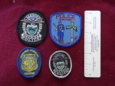 4 Different Hartford, Connecticut Various Patches, PBA, Frog Hollow, Etc.