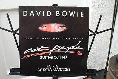 """David Bowie : 12"""" : Cat People (putting out the fire)"""