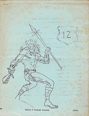 RARE Domesday Book Issue 12 Gary Gygax Castle & Crusade Society