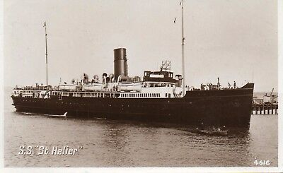 S.S. St. Helier Sailing, Steam Ship, Ferry 1956 RP Postcard 4616 (259)
