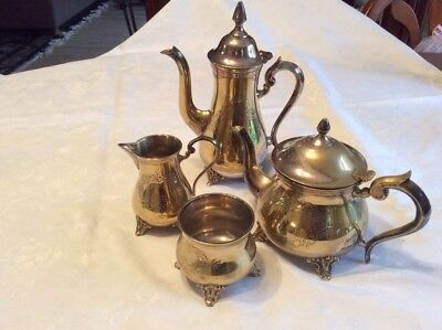 Vintage Silver Plated EPNS (Hallmarked) ~ 4 piece Tea & Coffee Set Collectable