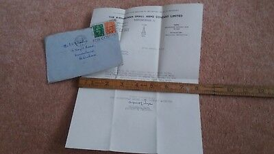 Birmingham Small Arms Company Letter 1946