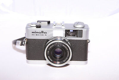 Minolta Hi-Matic G - CLA'd & Tested - Light Meter Works - From Canada!
