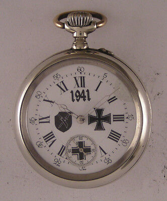Just Serviced MILITARY WW2 Years Swiss Pocket Watch A+
