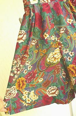 Vtg 80 90S Sz S M Wide Leg Roses Floral Loose Fit Culotte Shorts Rayon Women Usa