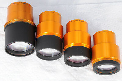 Lot 4 Projection lenses Isco Ultra Star 85mm 80mm & 75mm & 65mm 182
