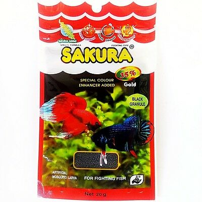 New Sakura Gold 20g Baby Floating Pellet Mosquito Larva Fighting Betta Fish Food