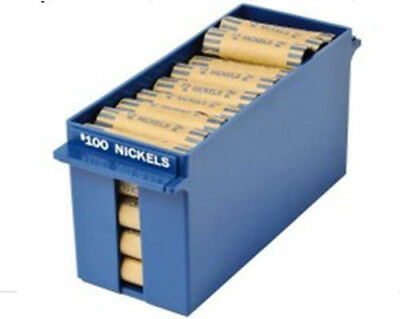 Rolled Tray for Nickels ( Extra Capacity) - Blue