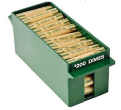 Rolled Tray for Dimes ( Extra Capacity) - Green