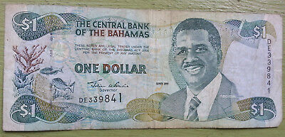 Bahamas 1 Dollar Banknote 2001 circulated Condition Lyden Pidling Money