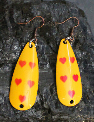 Five of Hearts Fishing Lure Earrings
