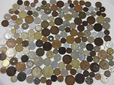 187 International Foreign Vintage Coins of the World 1855-1992 Huge 2 pound lot
