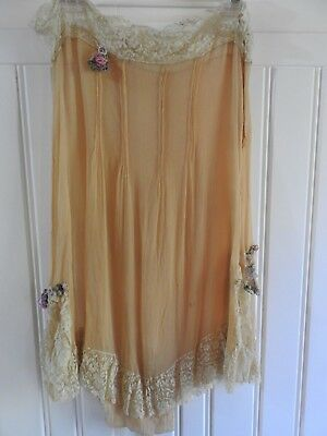 Vintage 1920s Crepe Cami Knickers Play Suit Lingerie for parts/restoration