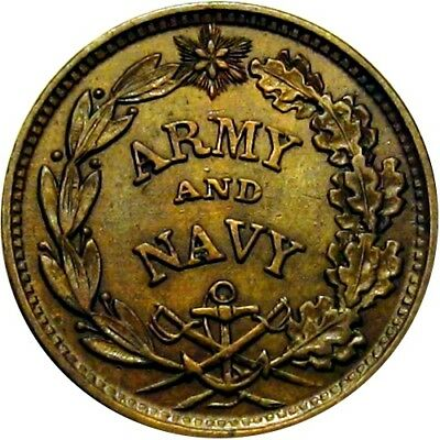 Army & Navy The Federal Union Shall Be Preserved Patriotic Civil War Token