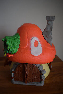 smurf orange roof large house complete collectable collection retro toy original