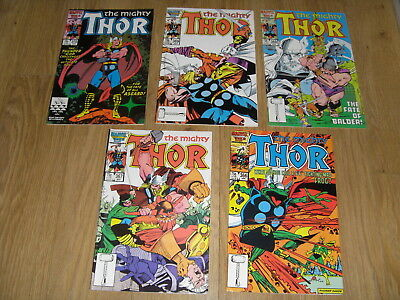 MARVEL COMICS ... The MIGHTY THOR ... Comic Lot mid 1980's ( #366 to 370 )
