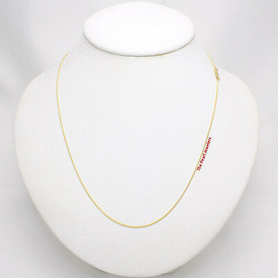 Solid 14k Yellow Gold Round Wheat Style 0.85 mm Chain Necklace TPJ