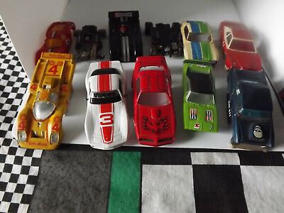Tyco .afx/aurora? car bodies  for repair or junk parts.     slot Car  HO