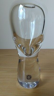 Vintage Dartington Glass Crystal Vase..