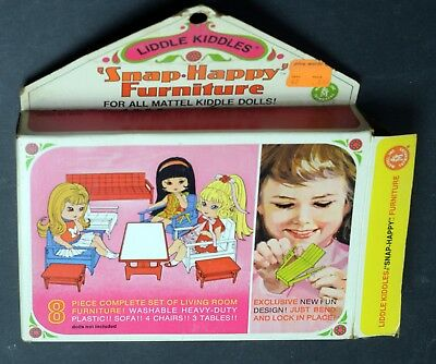 Kiddles Doll-Snap Happy Living Room Furniture-Mint Boxed-Mattel-1967-RCKD