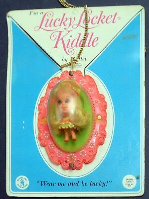 Kiddles Doll-Lucky Locket Laverne-Mint Carded-Mattel-1967-RCKD