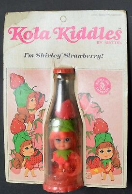 Kiddles Doll-Kola Kiddles-Shirley Strawberry-Mint Carded-Mattel-1967-RCKD