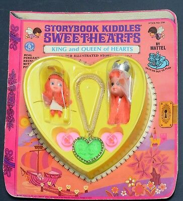 Kiddles Doll-Storybook Sweethearts King Queen Hearts-Mint Carded-Mattel-67-RCKD
