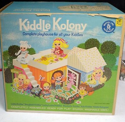 Kiddles Doll-Kiddle Kolony-Playset-Mint Boxed-Mattel-1967-RCKD