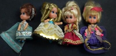 Kiddles Doll-Lot of 4 Storybook Kiddles-Nr. Mint -Mattel-1967-RCKD