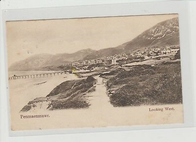 Penmaenmawr Looking West Panoramic View P/M Penmaenmawr 1907 Wrench Series