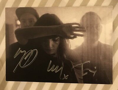 Chvrches Signed Lauren Mayberry Postcard Rare