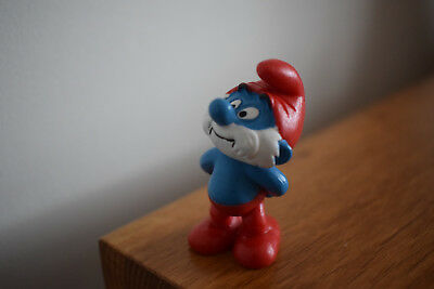 papa smurf red hat collectable collection retro toy original