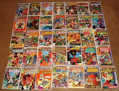 Lot of 35 Mixed Marvel Comics from the 70s Daredevil Defenders Teen Titans etc