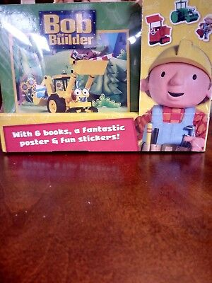 bob the builder books, sticker, poster gift set Christmas RRP 17.99