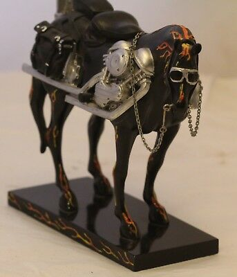 Motorcycle Mustang Trail Of Painted Ponies Statue Figurine 2003 Model 1450 Flame