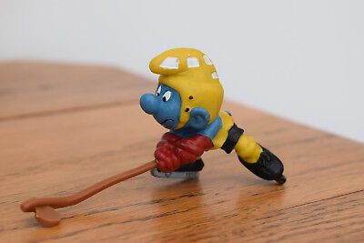 ice hockey stick puck sport smurf collectable collection retro toy original