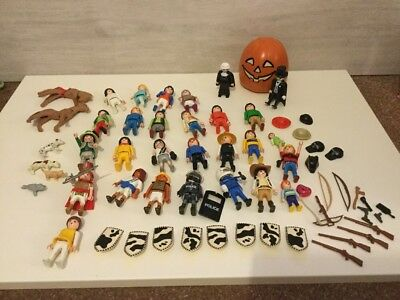 Playmobil Figures, Animals, Pumpkin, Accessories Bundle Some Rare