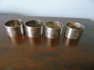 William Hair Haseler silver napkin rings